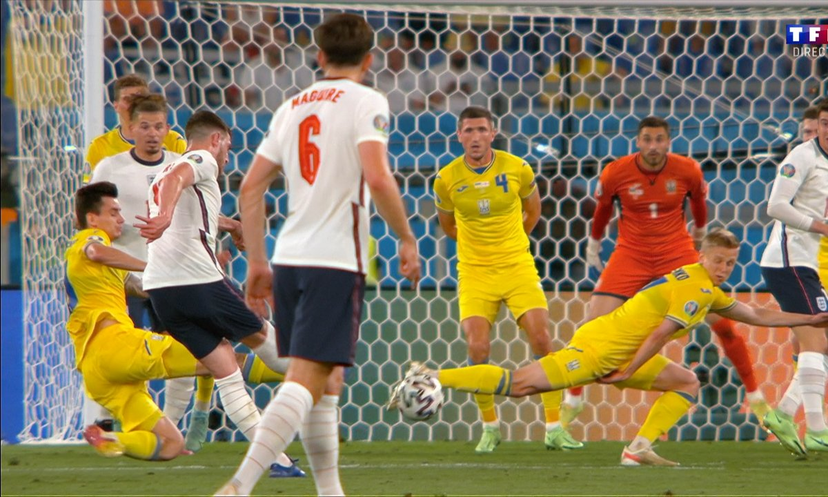 Ukraine - Angleterre (0 - 1) : Voir la grosse frappe de Rice en vidéo