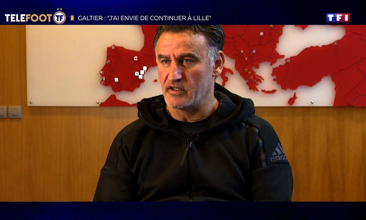 """Christophe Galtier : """"J'ai envie de continuer à Lille """""""