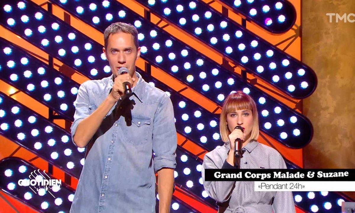 """Grand Corps Malade et Suzane : """"Pendant 24h"""" en live pour Quotidien"""