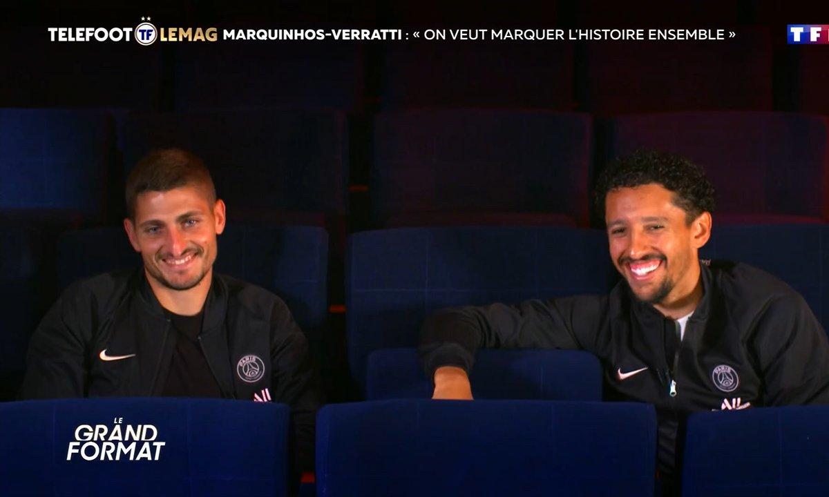 "Grand Format - Marquinhos-Verratti : ""On veut marquer l'histoire ensemble"""