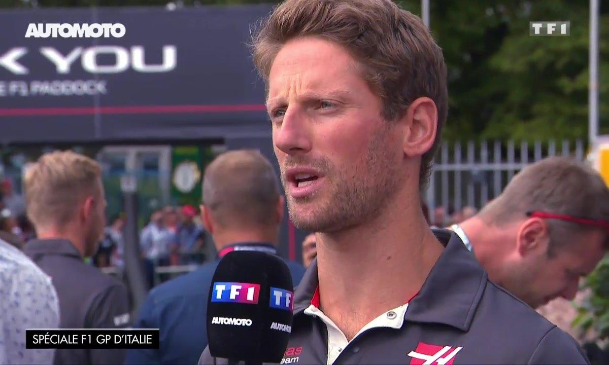 F1 - GP d'Italie : Interview de Romain Grosjean