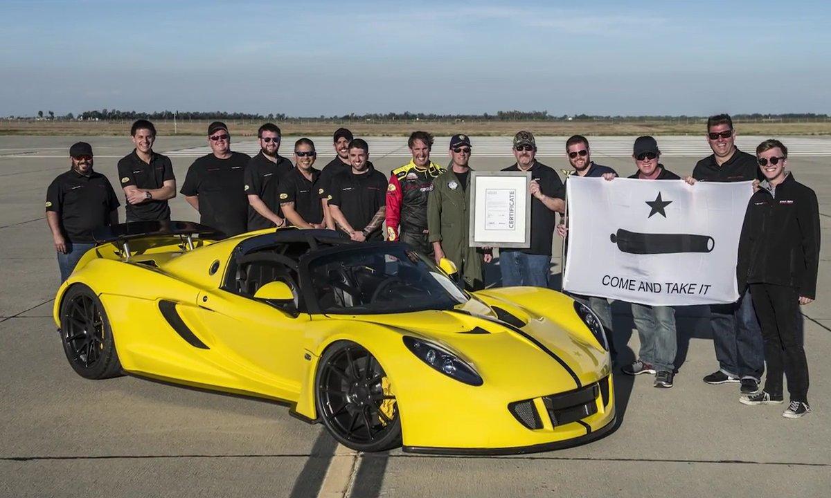 Hennessey Venom GT Spyder : 427,4 km/h, le cabriolet le plus rapide du monde !