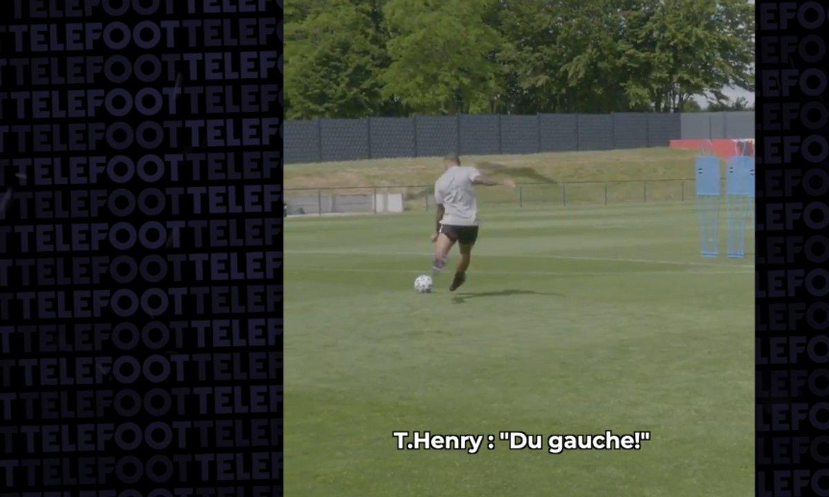 VIDEO - Henry envoie un coup franc incroyable à l'entraînement et choque TOUS les joueurs belges