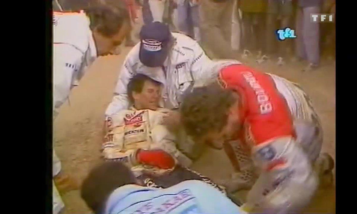 Hubert Auriol se casse les chevilles au Dakar (Auto Moto 25 janvier 1987)