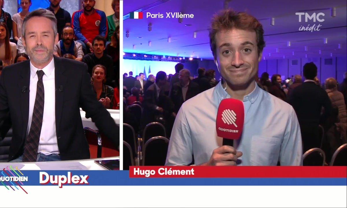 Hugo Clément au meeting de Laurent Wauquiez