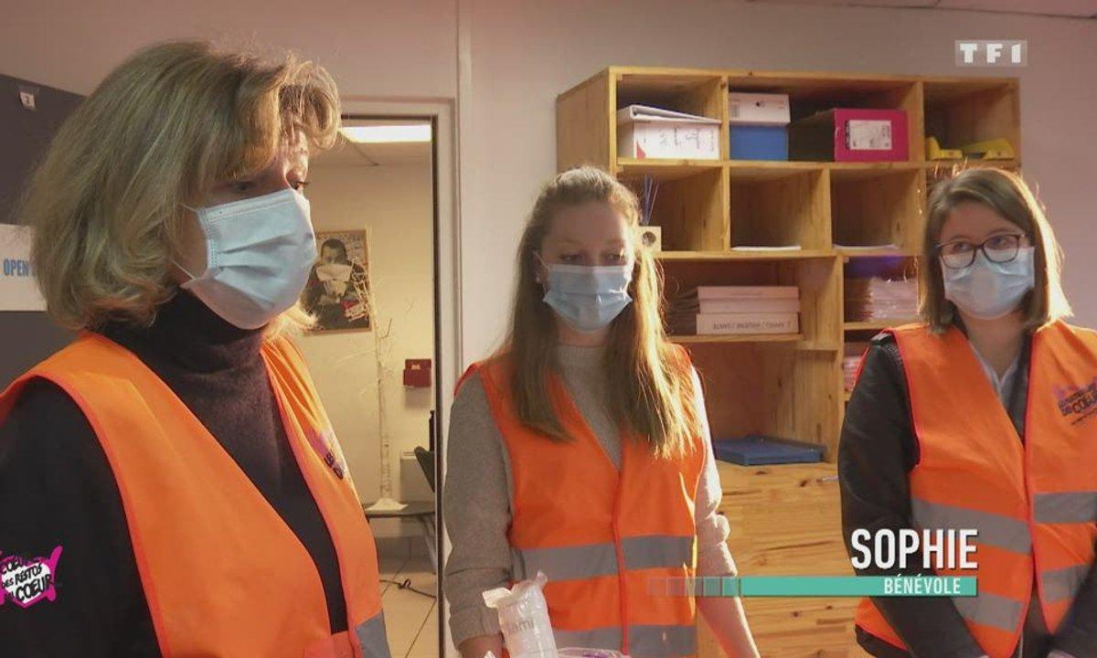 Gens de la rue / hygiène à Caen - Au coeur des Restos du Coeur du 23 décembre 2020