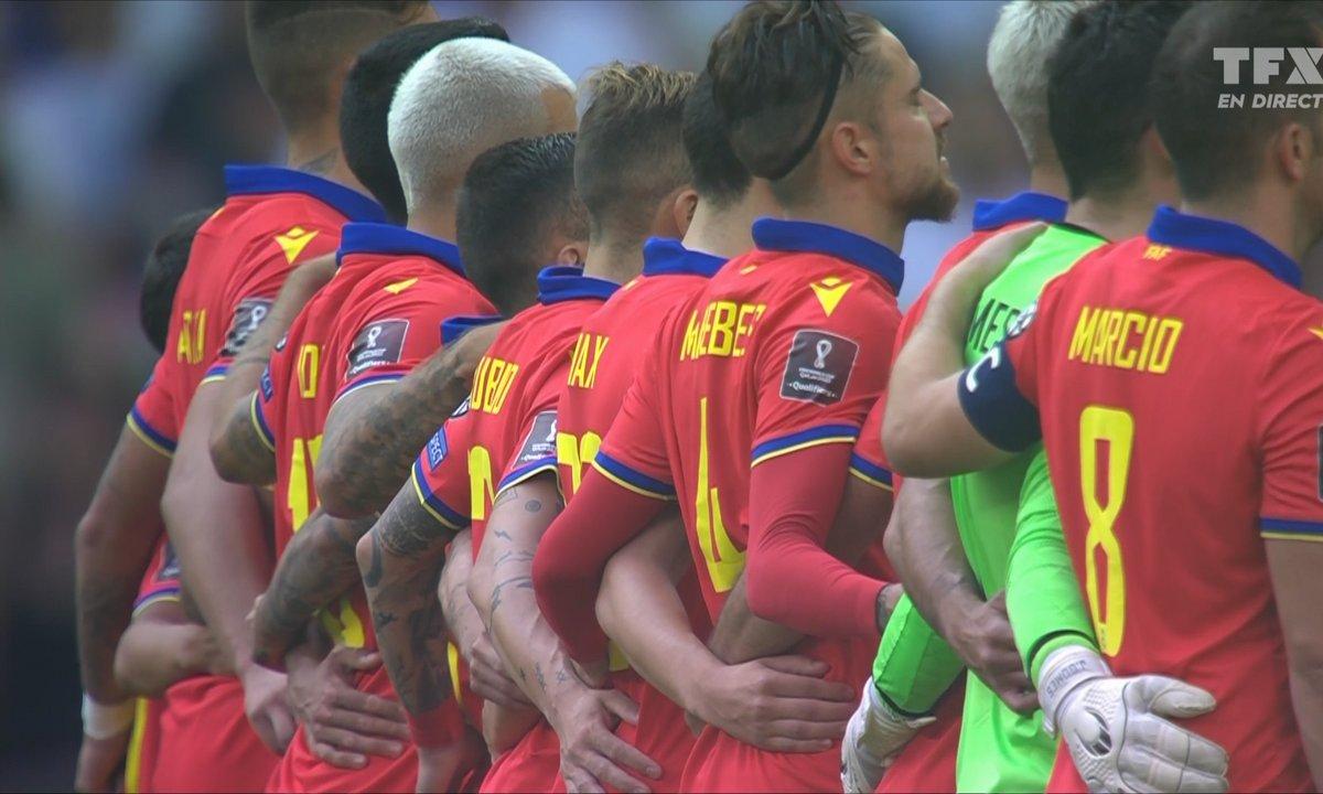 Angleterre - Andorre : l'hymne d'Andorre en vidéo