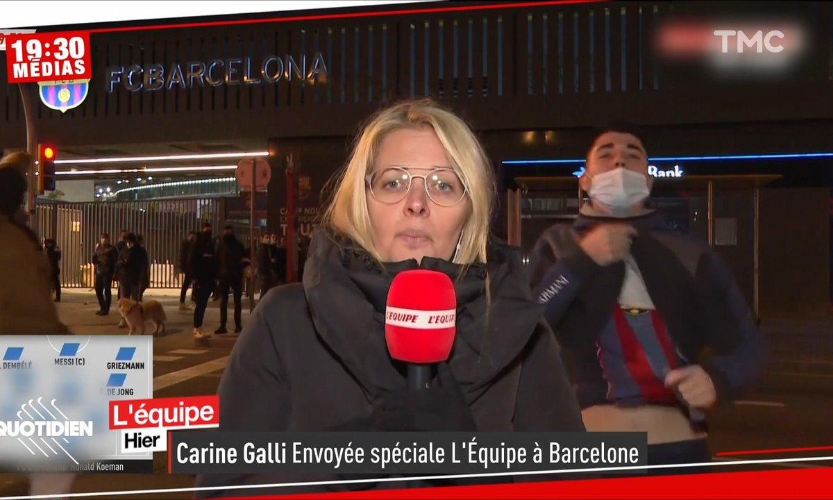 Imperturbable Carine Galli face aux gros relous du match Barça-PSG