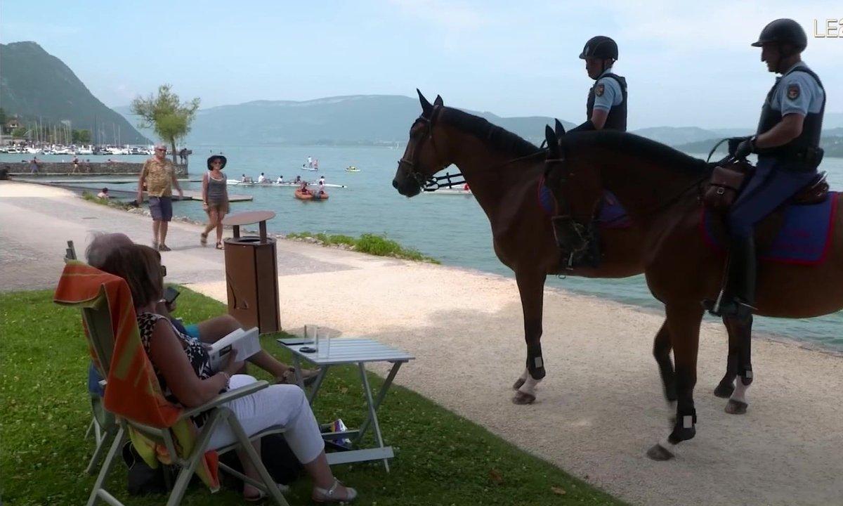 Incivilités au lac du Bourget : la brigade équestre à la rescousse