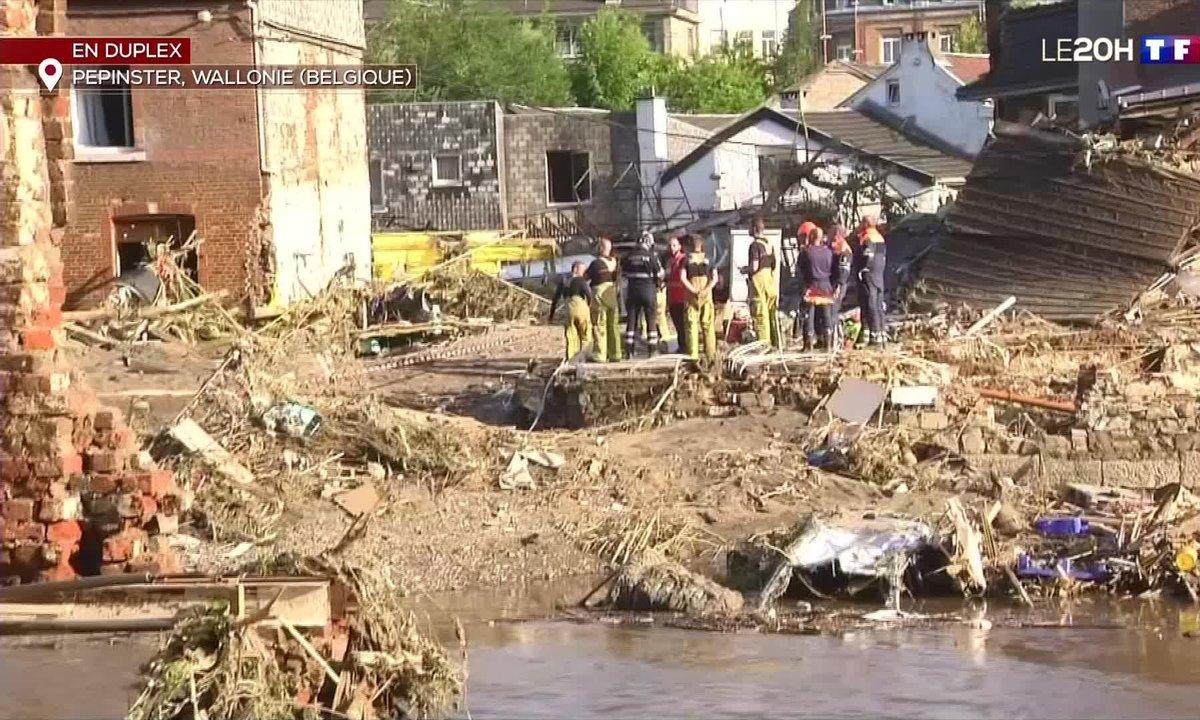 Inondations en Belgique : situation catastrophique à Pepinster