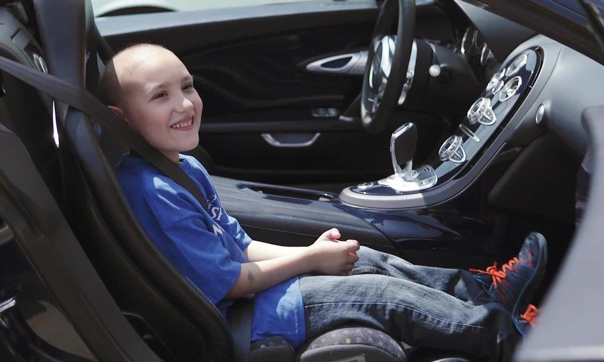Insolite : Un enfant leucémique réalise son rêve en Bugatti