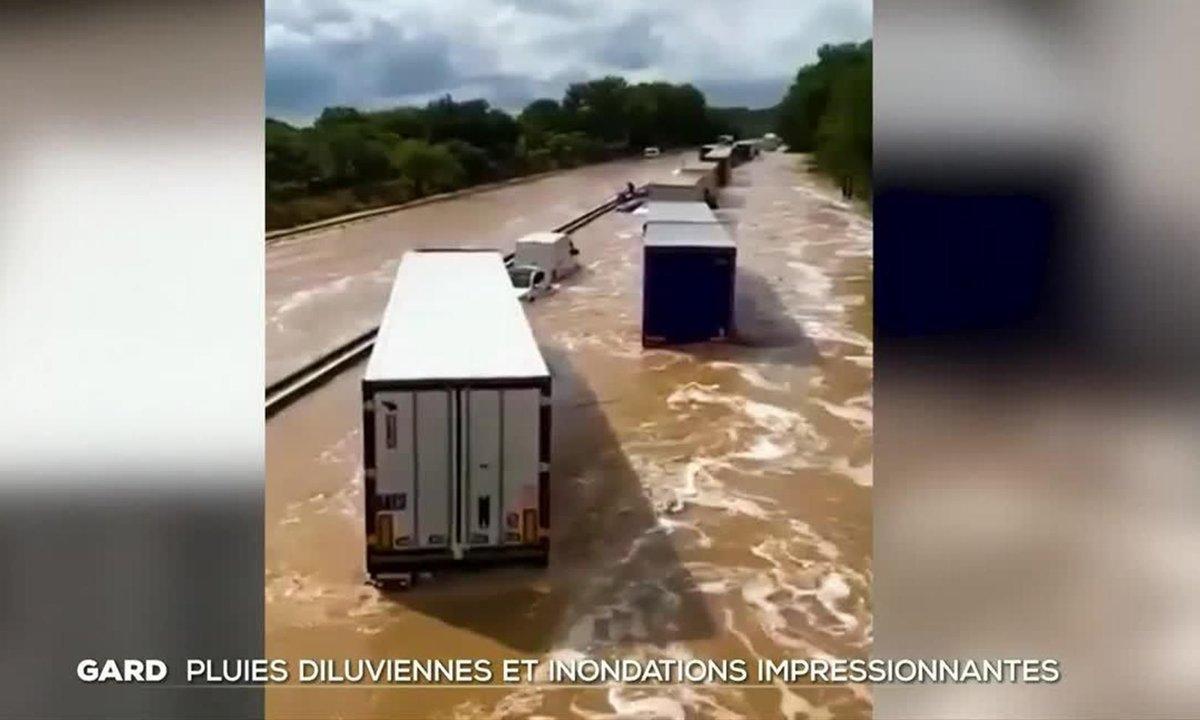 Intempéries dans le Gard : pluies diluviennes et inondations impressionnantes