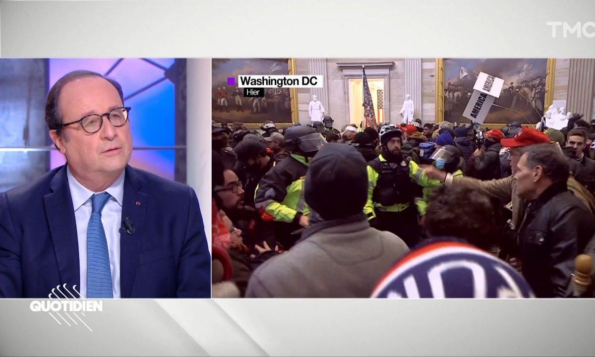 """Invasion du Capitole: l'oeuvre d'une """"horde sauvage"""", """"provoquée par Donald Trump"""" selon François Hollande"""
