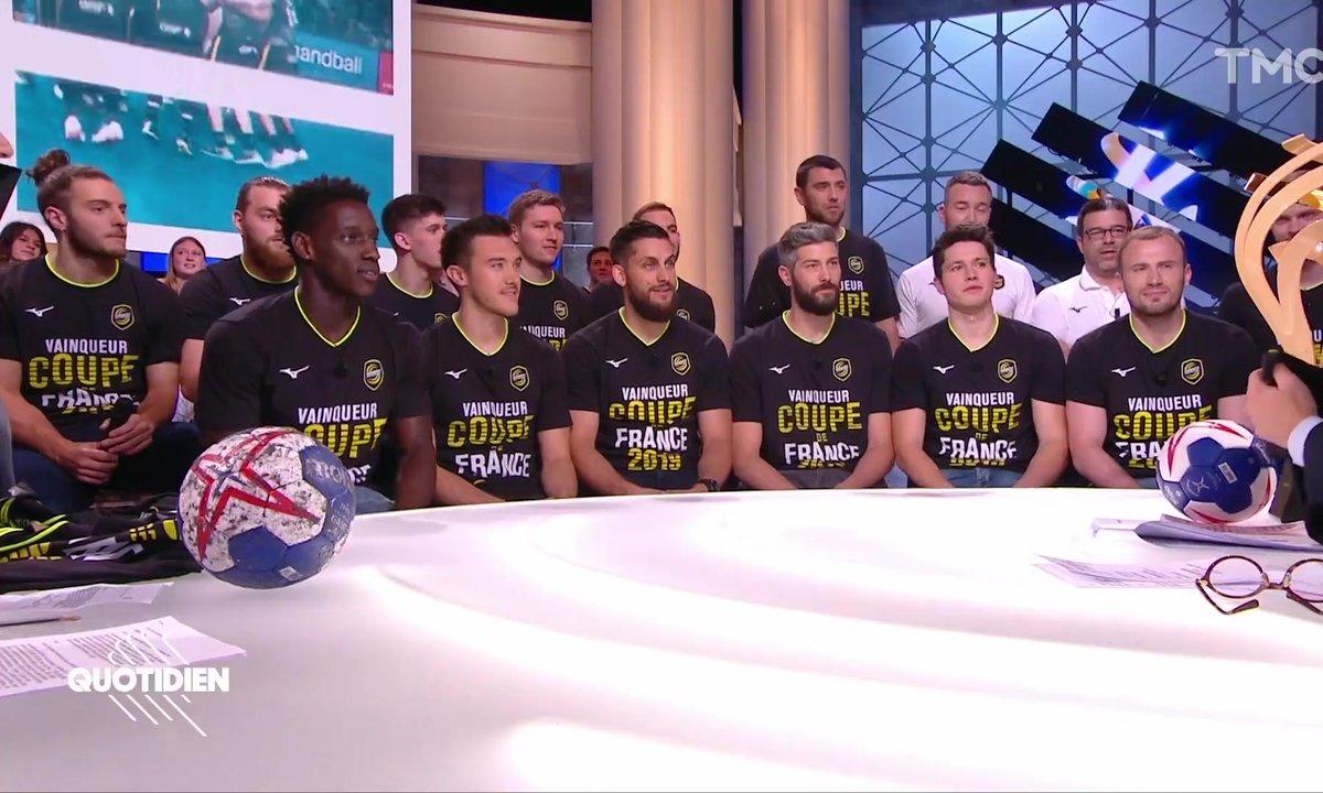 Invités : les handballeurs du Chambéry Savoie Mont-Blanc, vainqueurs de la Coupe de France