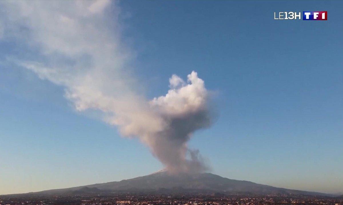 Italie : des images spectaculaires de l'éruption de l'Etna