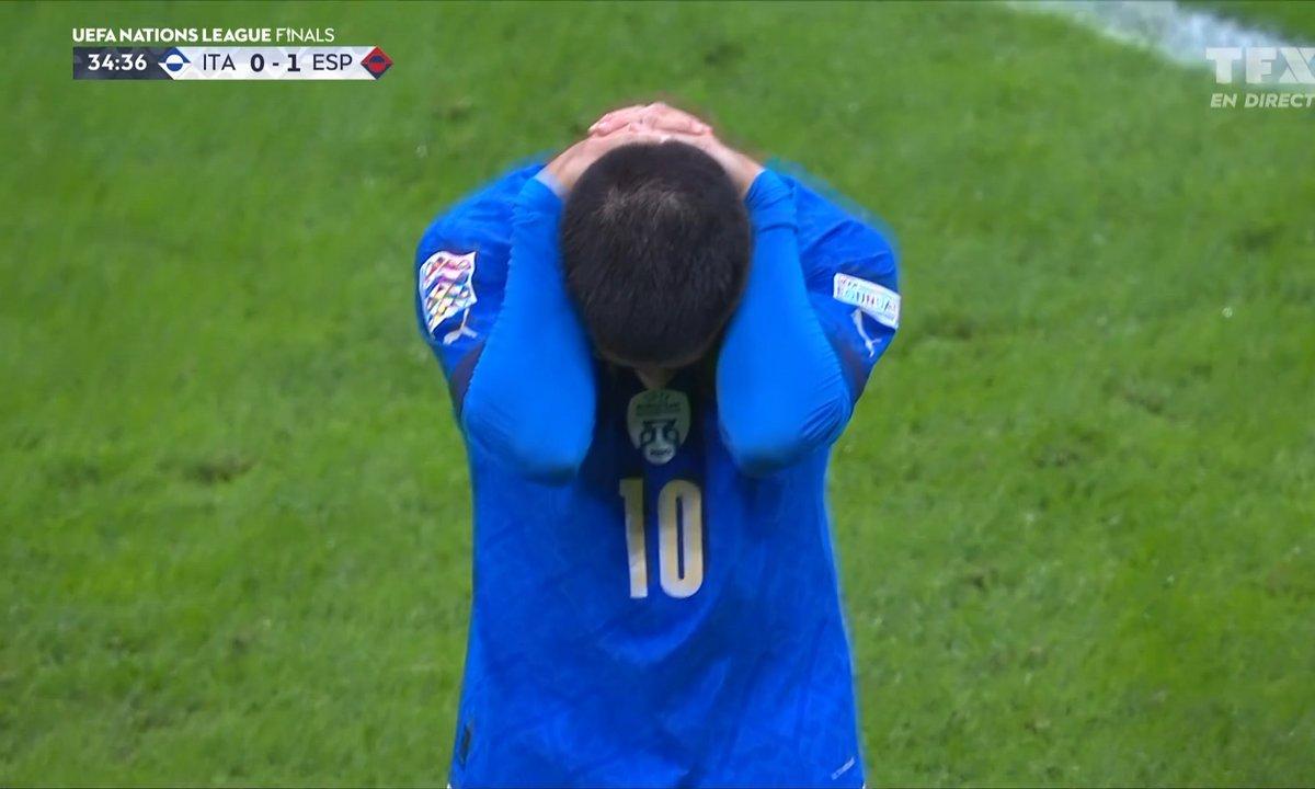 Italie - Espagne (0 - 1) : l'occasion de Lorenzo Insigne