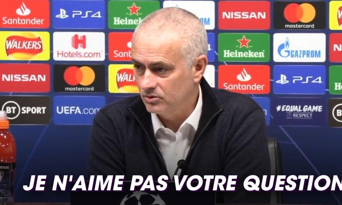 Mourinho agacé par la question d'un journaliste après la défaite contre Leipzig