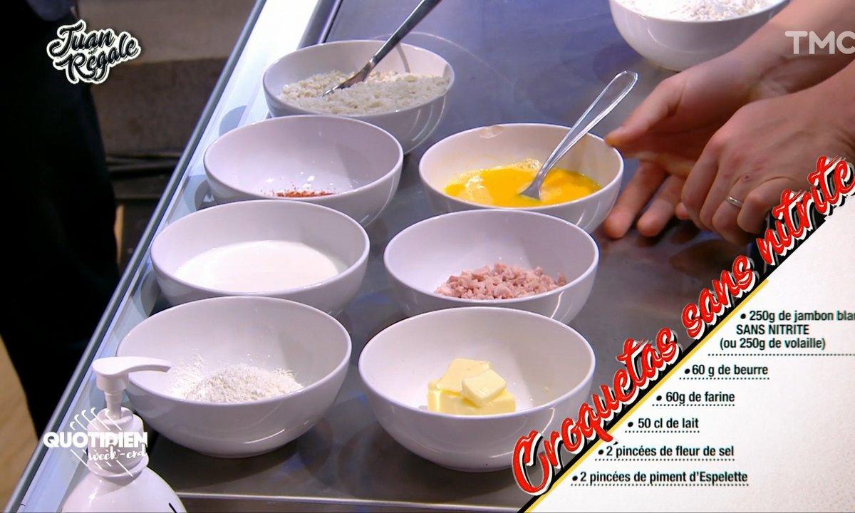 Juan régale: les croquetas au jambon sans nitrite