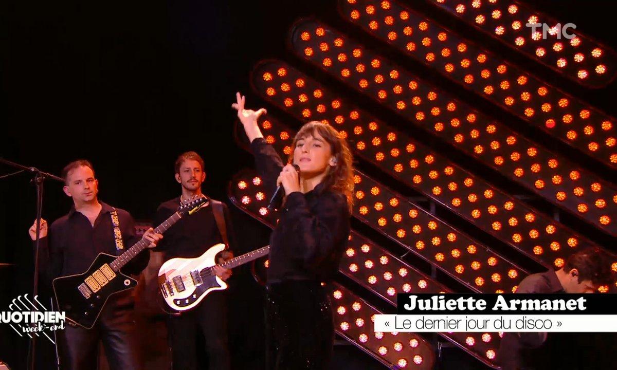 """Juliette Armanet : """"Le dernier jour du disco"""" en live pour Quotidien"""