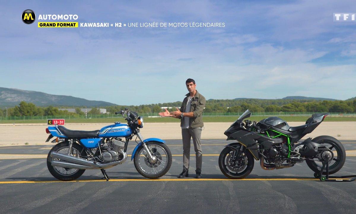 """Grand Format : Kawasaki """"H2"""", une lignée de moto légendaires"""