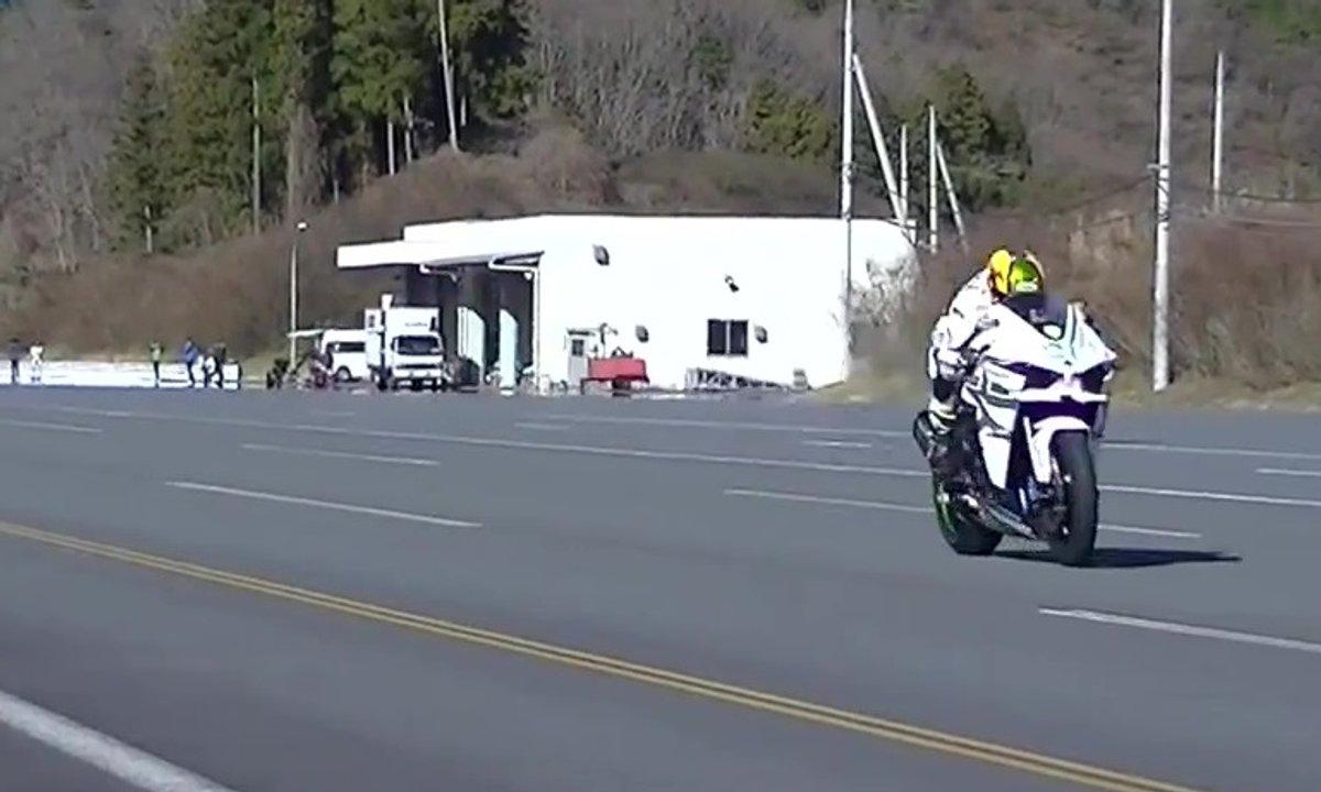 Insolite : La Kawasaki H2R atteint les 385 km/h !