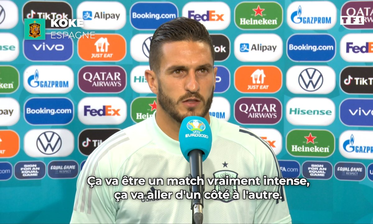 "Koke (Espagne) : ""Ce sera une vraie bataille au milieu de terrain"""
