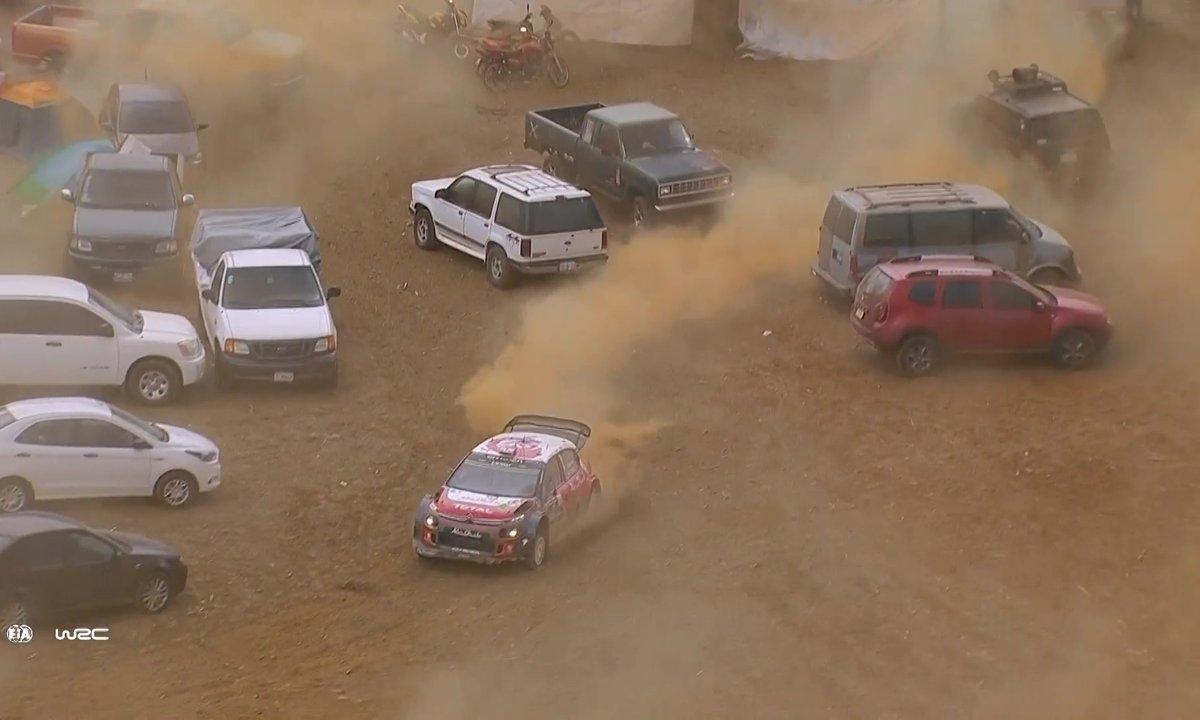Frayeur : Meeke manque l'accident, se perd dans un parking et gagne le Rallye Du Mexique 2017 !