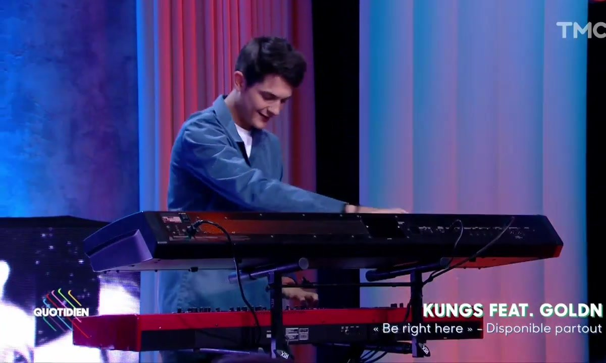 """Kungs : """"Be right here"""" feat Goldn en live pour Quotidien"""