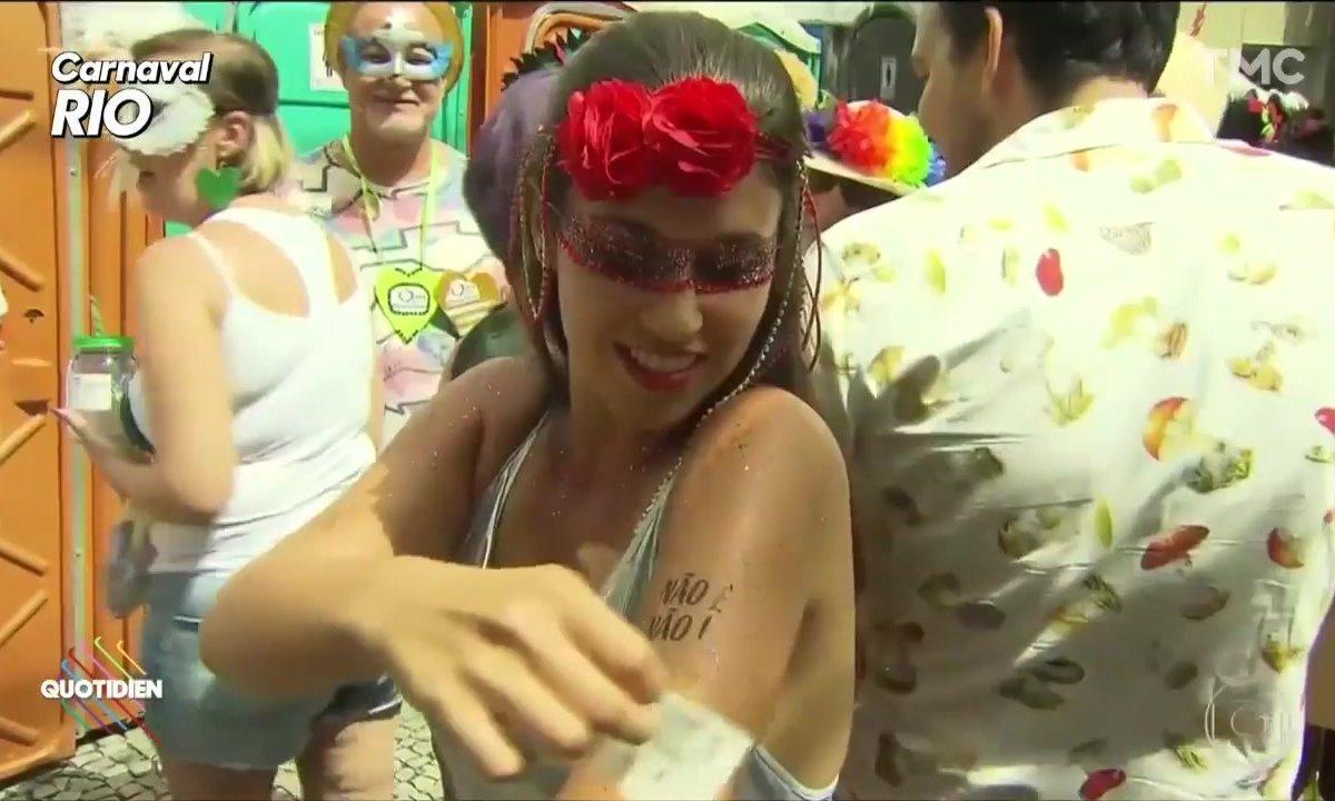 L'image du jour de Baptiste des Monstiers : le « Non c'est Non » du Carnaval de Rio