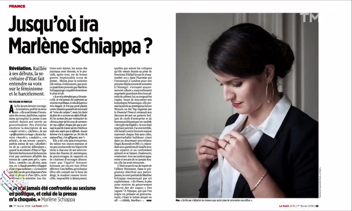 L'image du jour de Valentine Oberti : le bad buzz du Point sur Marlène Schiappa