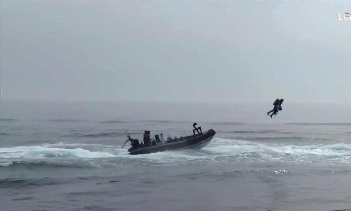 La marine britannique teste une combinaison volante