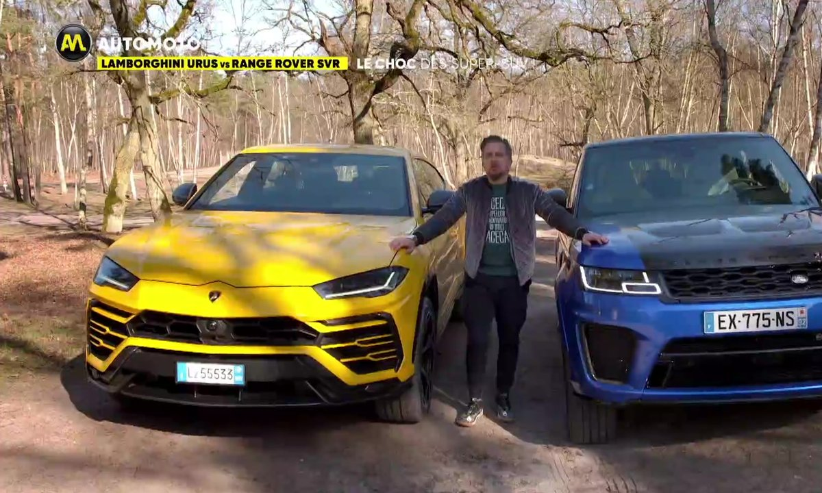 Lamborghini Urus vs Range Rover SVR, le choc des Super SUV