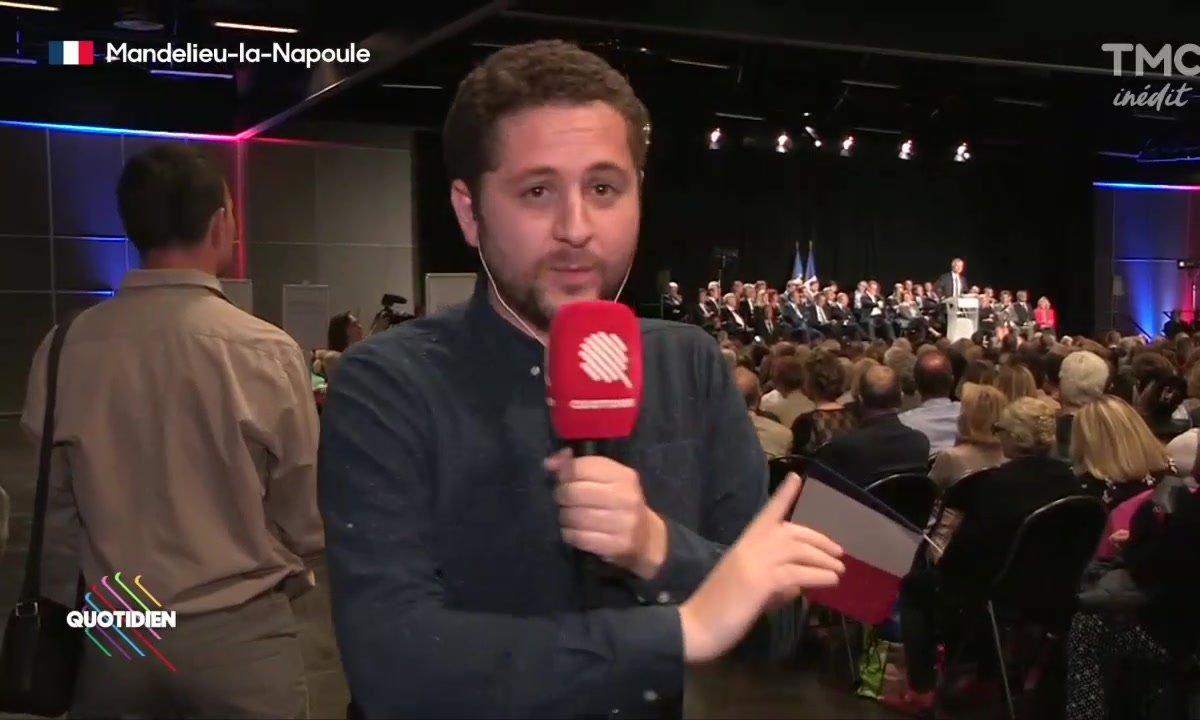 Laurent Wauquiez poursuit sa campagne à Mandelieu