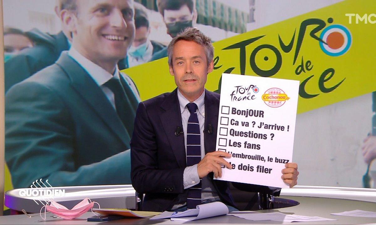 Le bingo du Tour de France d'Emmanuel Macron