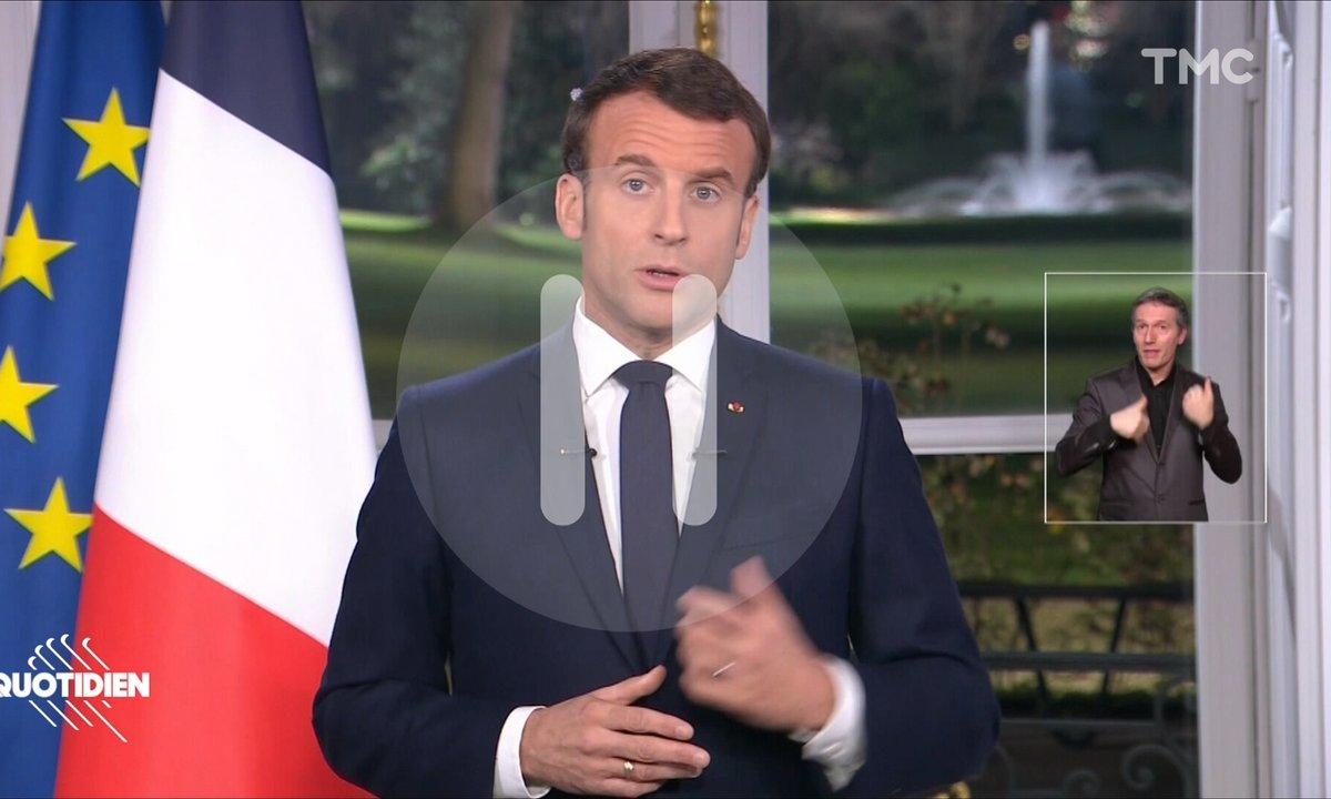 LE détail qu'il ne fallait pas louper pendant les vœux de Macron