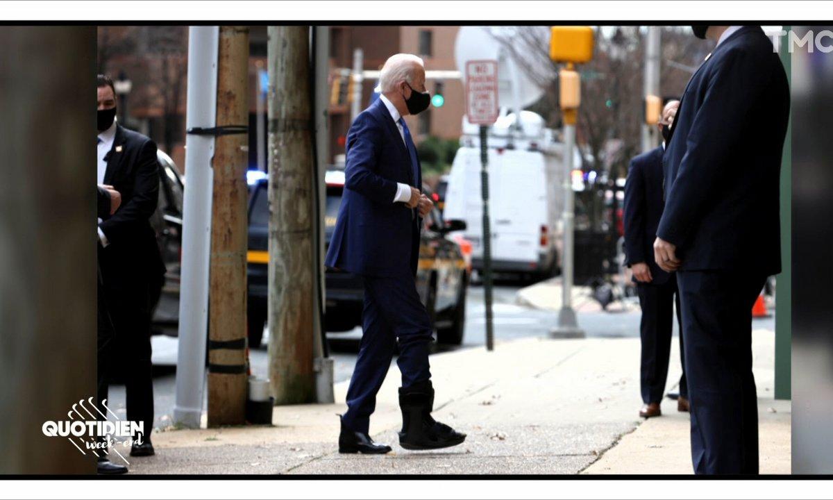 Le Flash Mode: Joe Biden cache-t-il un bracelet électronique sous son attelle ?