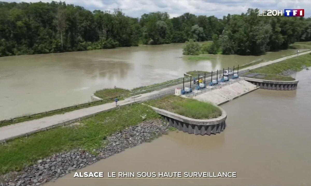 Le polder d'Erstein mis en eau pour limiter les risques d'inondations en Alsace