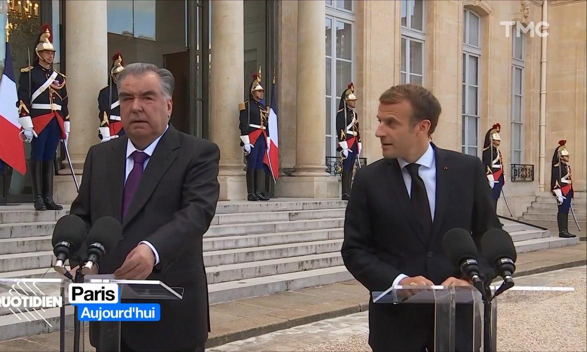Le très sympathique président du Tadjikistan chaleureusement reçu en France