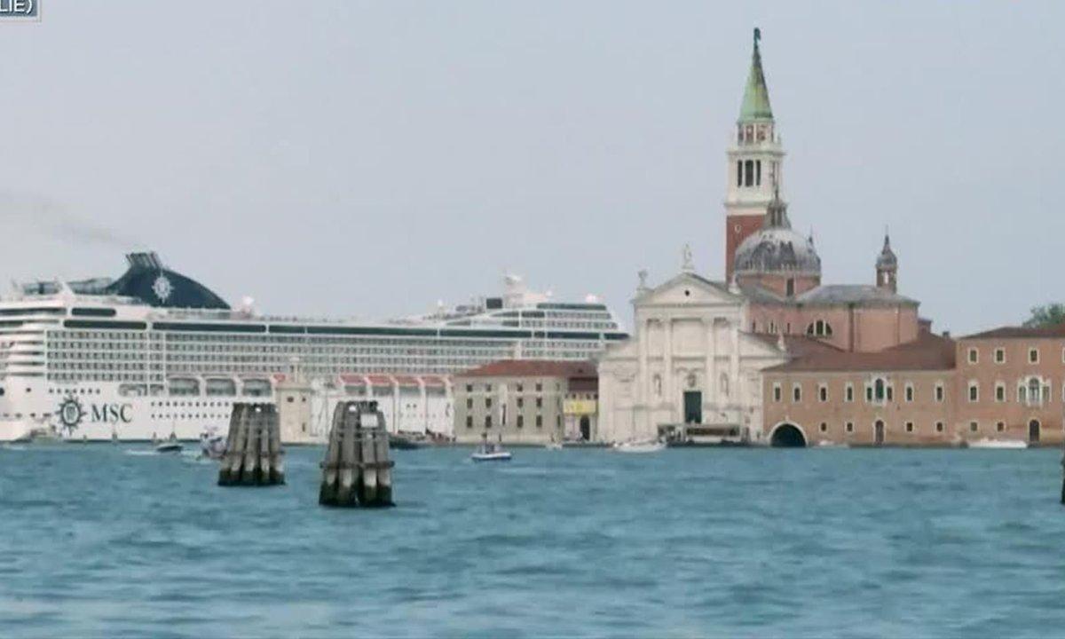 Les bateaux de croisière font leur retour à Venise
