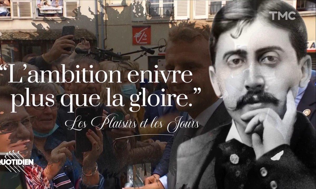 Les citations de Proust sur la visite d'Emmanuel Macron