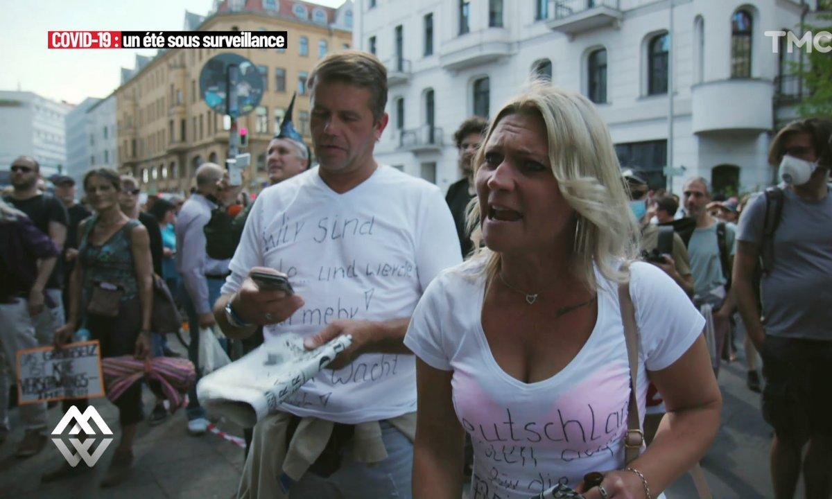 """""""Les masques rendent malades !"""" : en Allemagne, les manifestations anti-règles sanitaires se multiplient"""