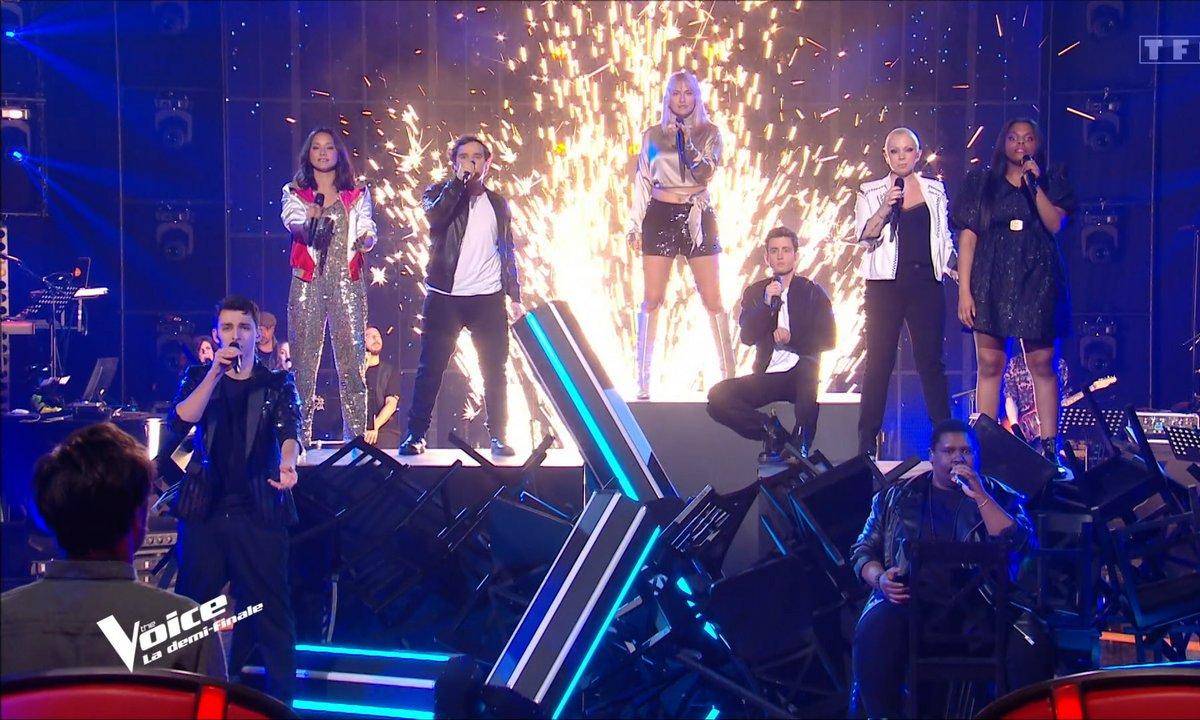 """The Voice 2021 – Les talents chantent """"Casting"""" de Christophe Maé (Demi-finale)"""