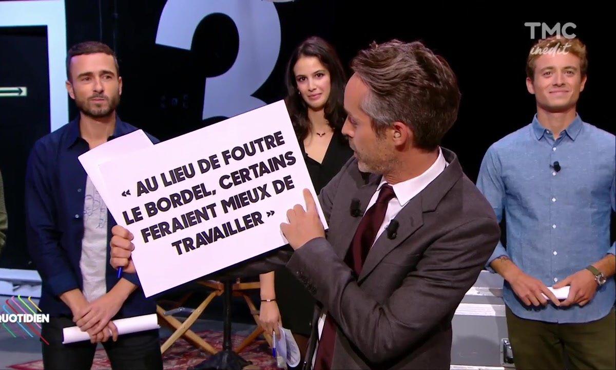 """""""Au lieu de foutre le bordel..."""" la citation choc de Macron marche aussi pour la télé..."""