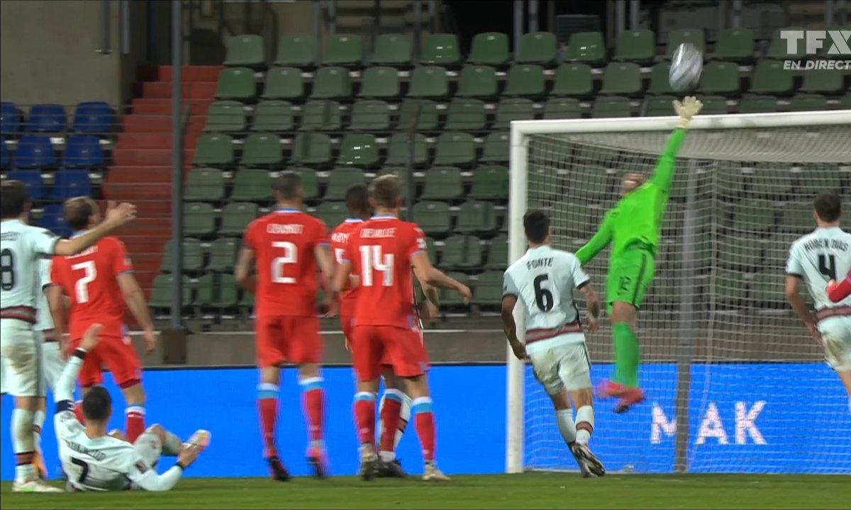 Luxembourg - Portugal (1 - 2) : Lopes tout près de se faire lober par Thill