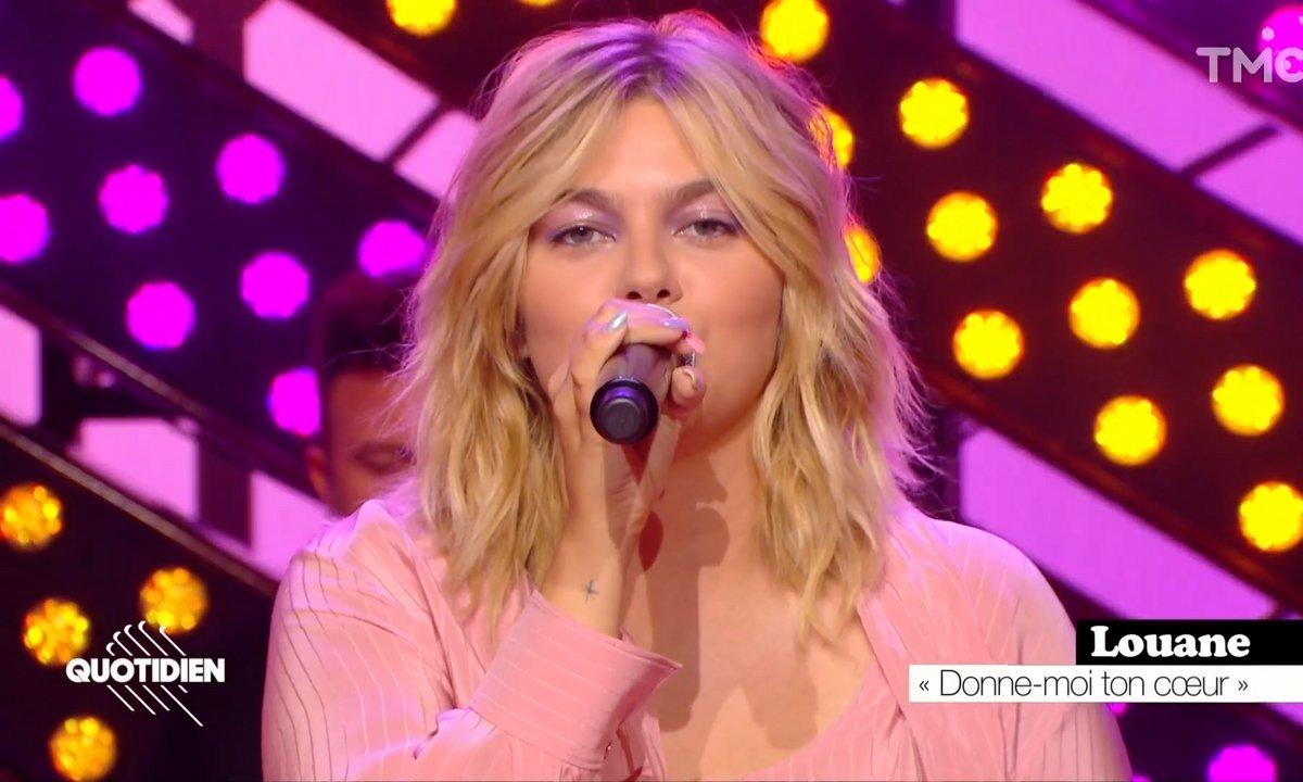 """Louane : """"Donne-moi ton cœur"""" en live pour Quotidien"""