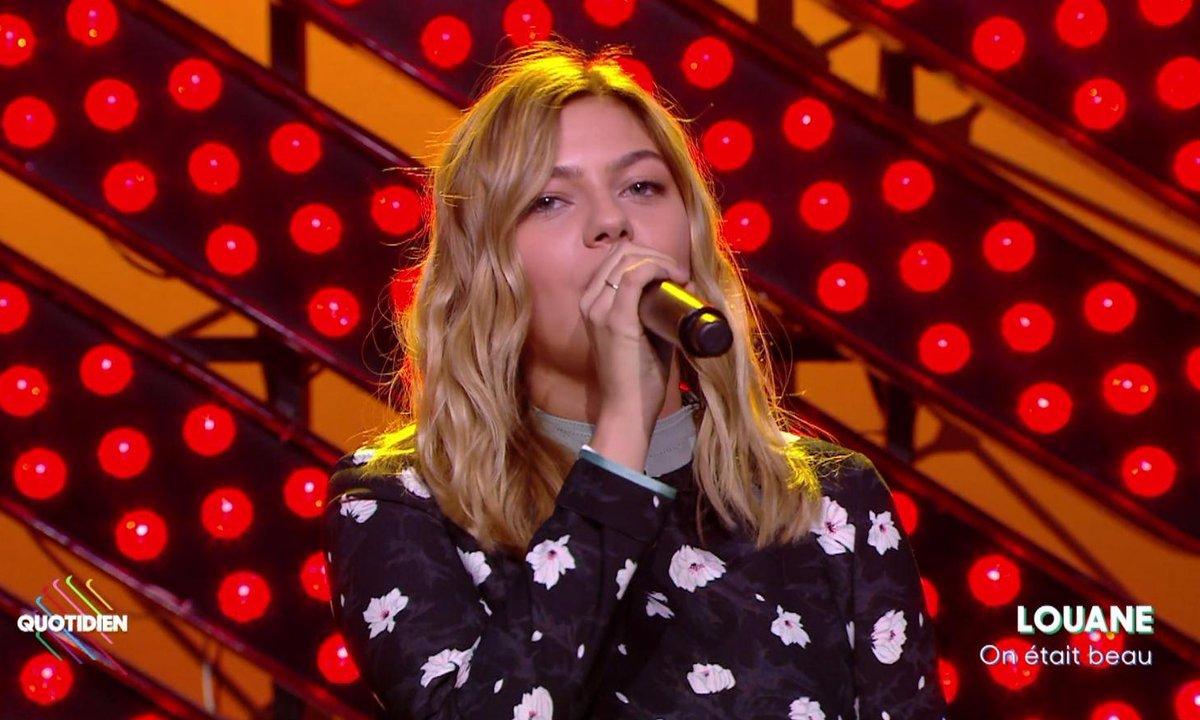 """Louane : """"On était beau"""" en live sur Quotidien  (Exclu Web)"""