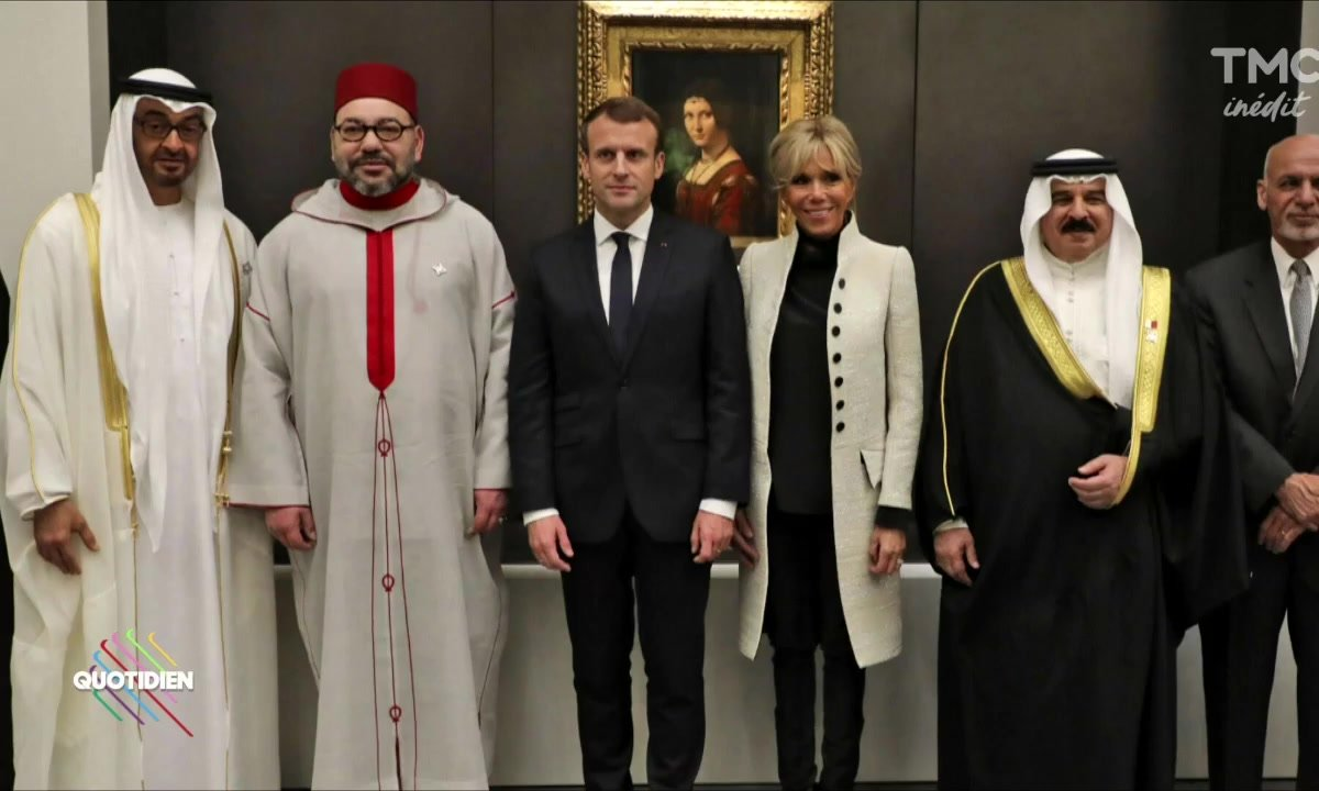 Inauguration du Louvre d'AbuDhabi avec Macron