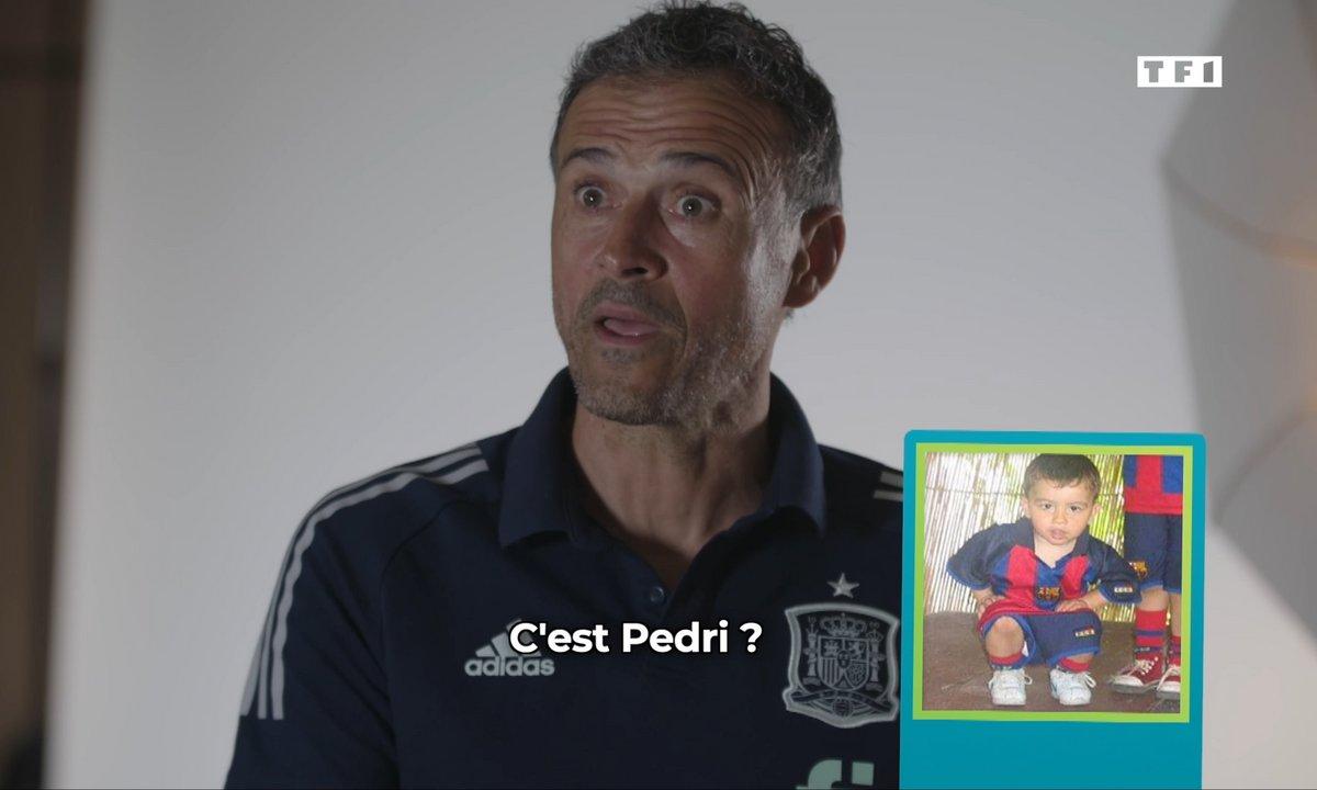 Quand Luis Enrique (Espagne) tente de reconnaître ses joueurs à partir de leurs photos enfants !