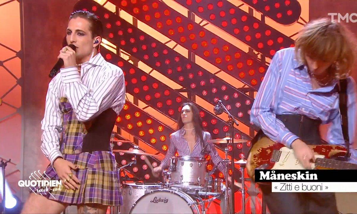 """Maneskin : """"Zitti e buoni"""" en live pour Quotidien"""