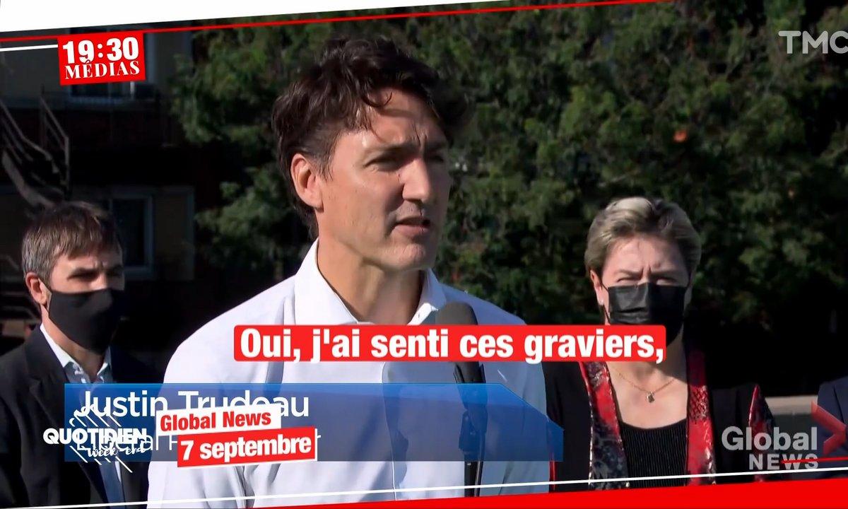 MapMedia - Lancers de gravier, insultes, Justin Trudeau en difficulté au Canada